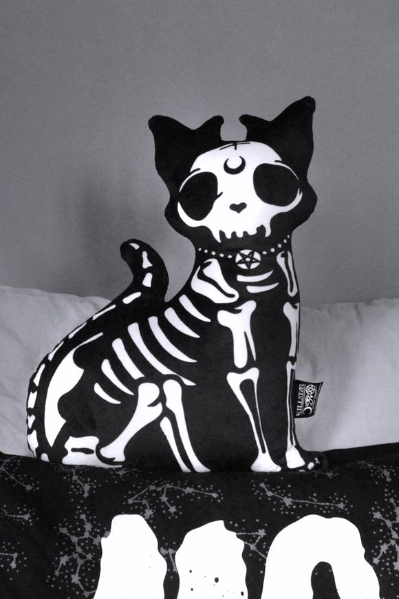 Skeleton Cat Azrael Pillow