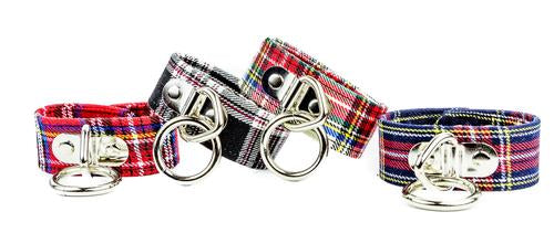 Plaid Bondage Ring Wristband (Various Colors)
