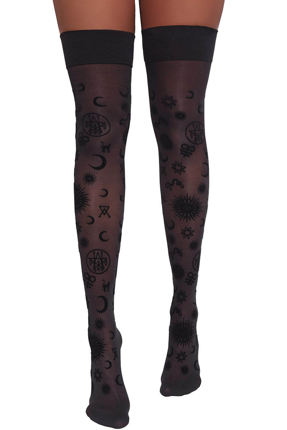 Believe in Magic Thigh High Stockings