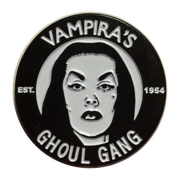 Vampira Ghoul Gang Lapel Pin - DeadRockers