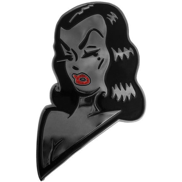 Vampira Giant Face Enamel Pin - DeadRockers