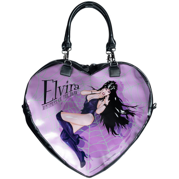 Elvira Black Heart Bag