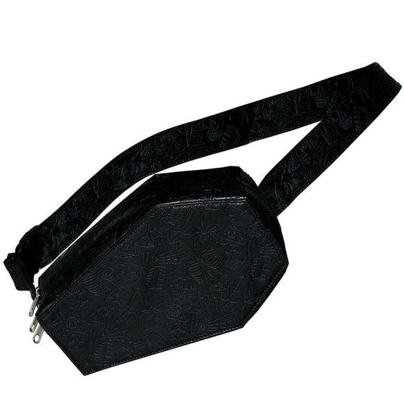 Embossed Coffin Hip Pouch Bag
