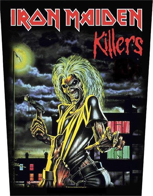 Iron Maiden Killers Woven Back Patch - DeadRockers