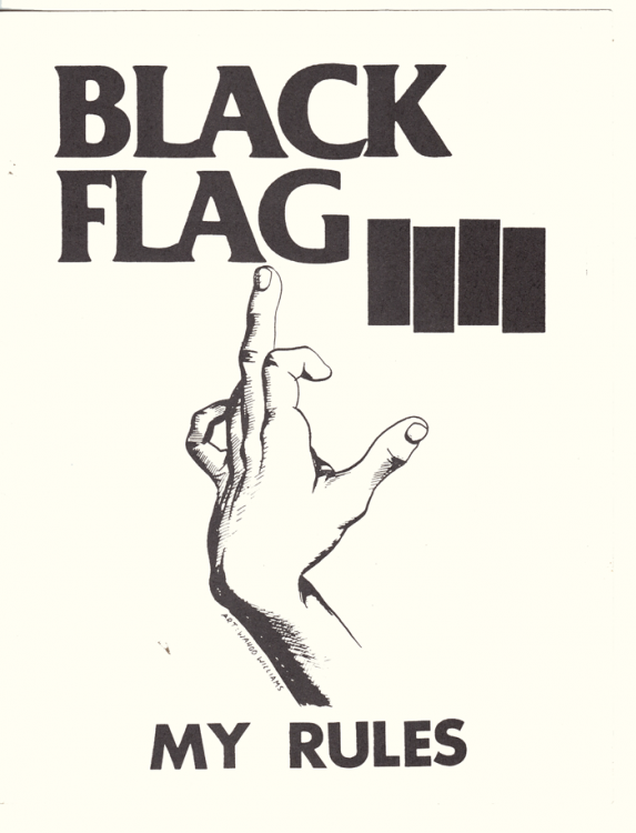 Black Flag My Rules Sticker