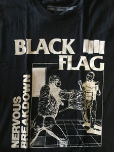 Black Flag Nervous Breakdown Shirt Black