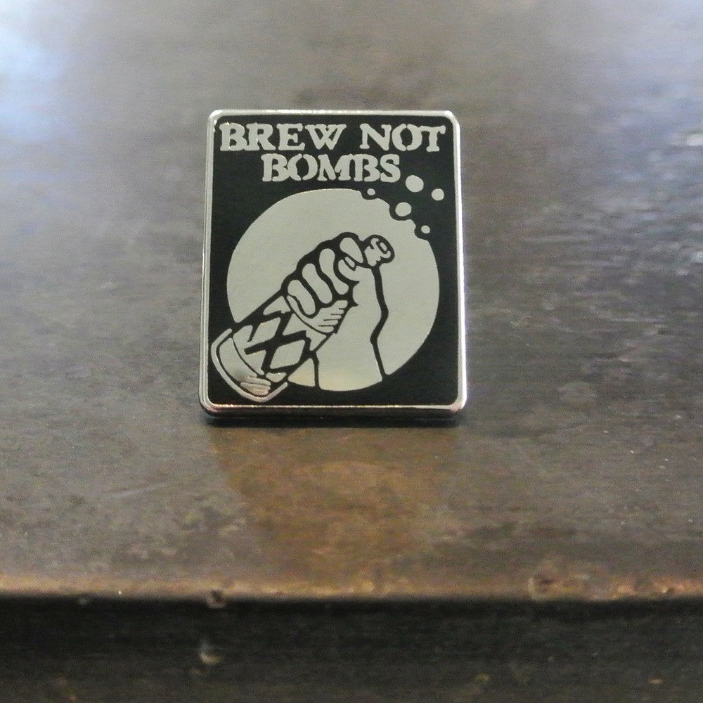 Brew Not Bombs Pin - DeadRockers