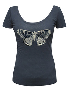 Butterfly Scoop Neck - DeadRockers