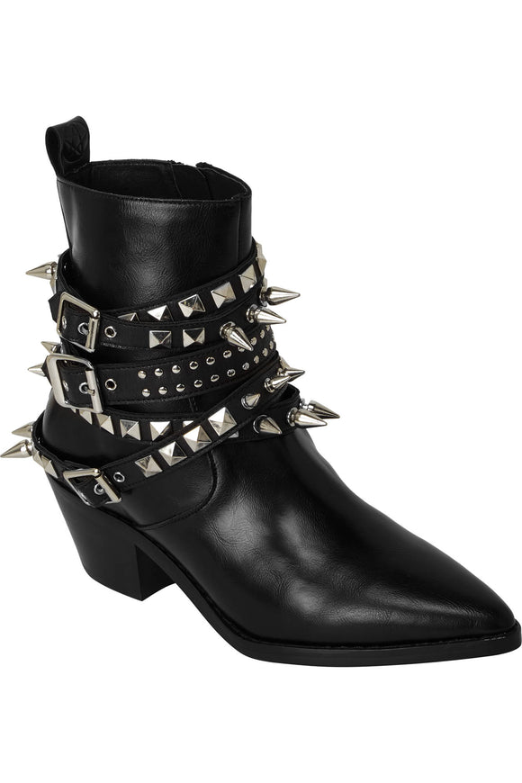 Spiked & Studded Buckle Callista Boots (Only Size 6 Left!)