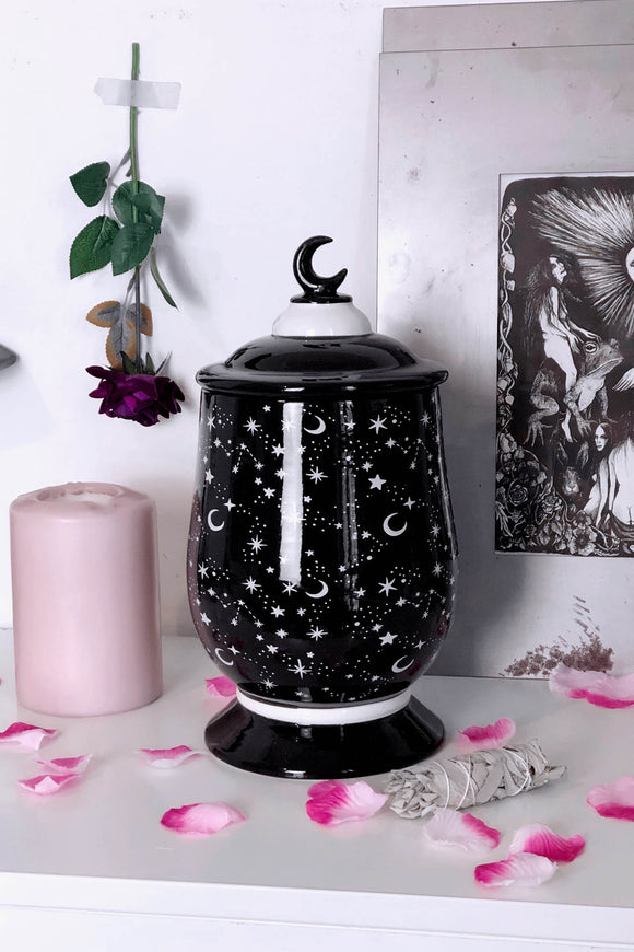 Constellation Ceramic Jar