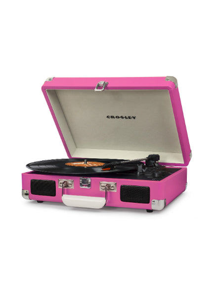 Crosley Cruiser Deluxe Turntable w/ Bluetooth - Pink