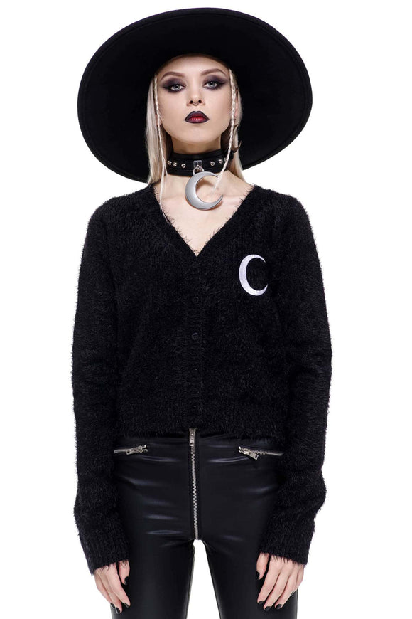 Crescent Moon Knit Cardigan