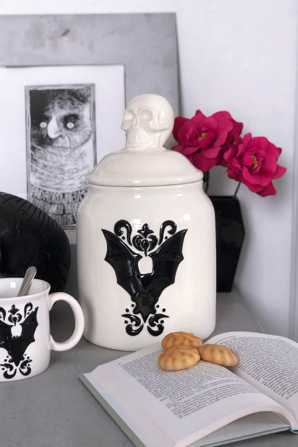 Crypt Bat Ceramic Jar