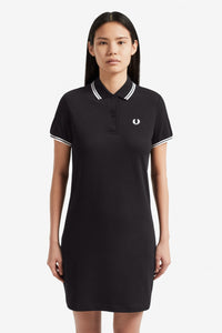 Fred Perry Twin Tipped Polo Dress Black / White