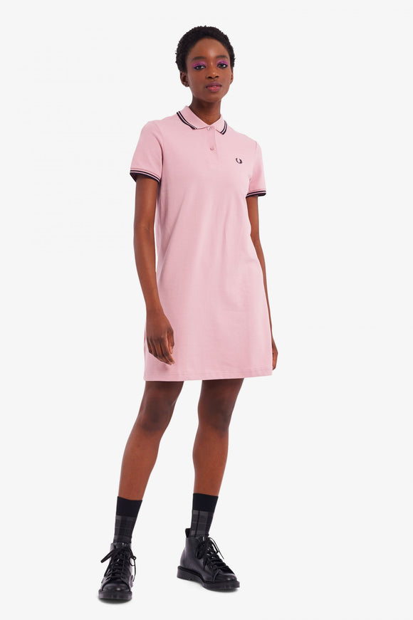 Fred Perry Twin Tipped Polo Dress Chalky Pink
