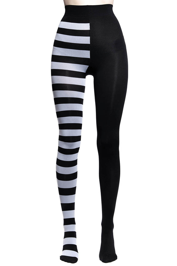 Black & White Striped Ella Tights