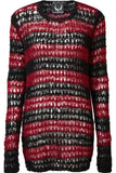 Elmstreet Red & Black Mohair Sweater