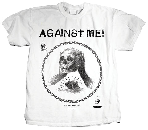 Against Me Skullhead Drawing Shirt
