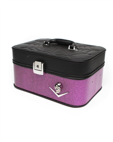 Elvira Vanity Case Electric Purple Sparkle