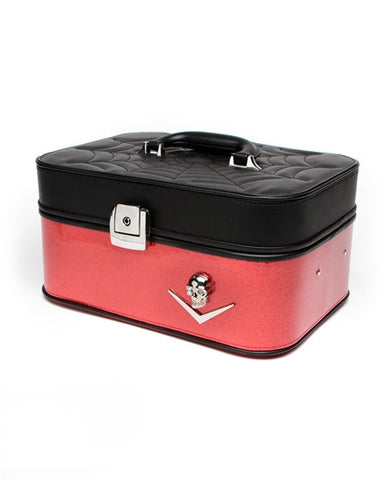Elvira Vanity Case Venom Red Sparkle