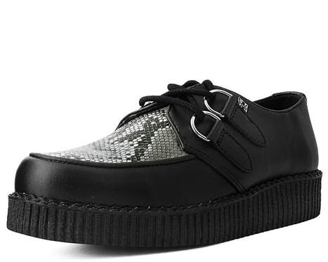 Black & Grey Snake Skin Vegan Creeper (Last One M5/W7)