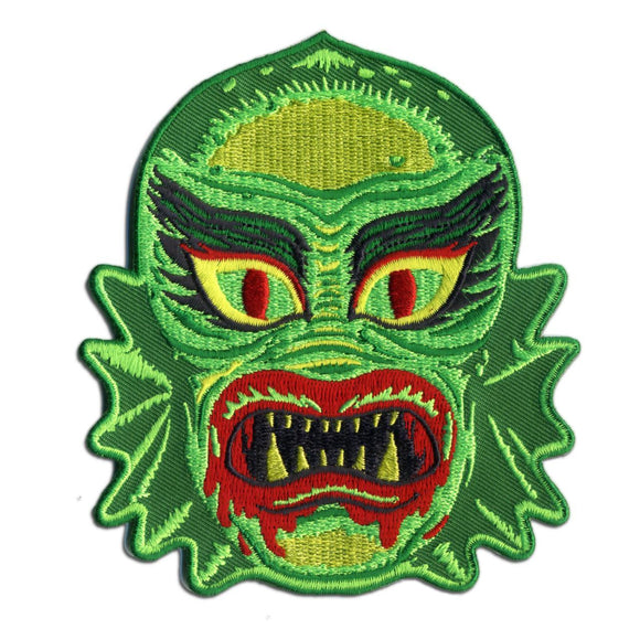 Fish Face Creature Patch - DeadRockers