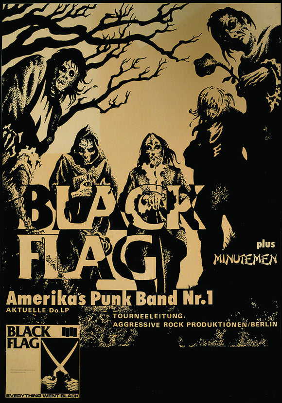 Black Flag Show Flier Fine Art Print - DeadRockers