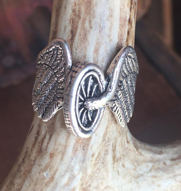 Winged Wheel Ring