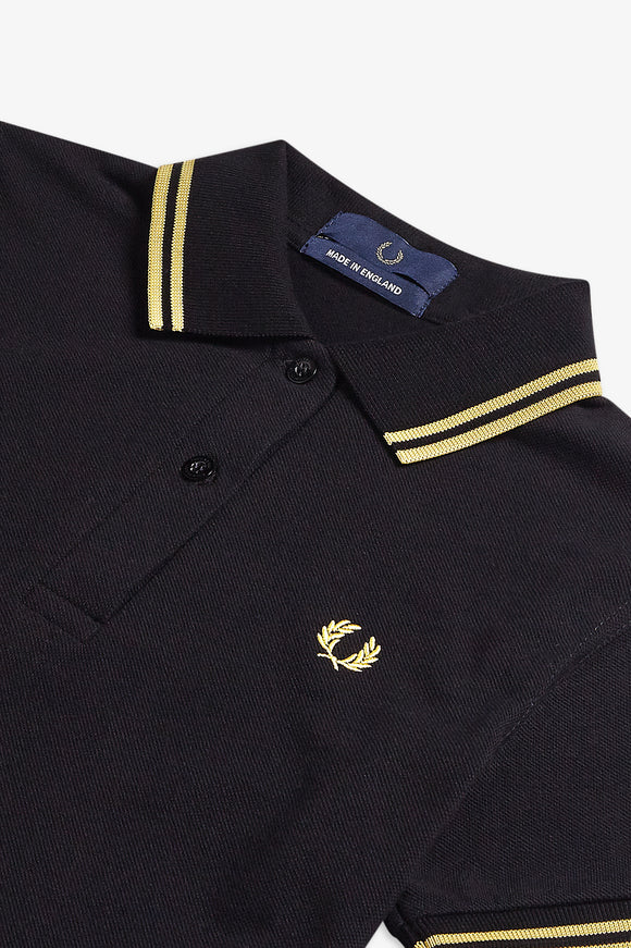 Fred Perry Polo Womens Black / Champagne