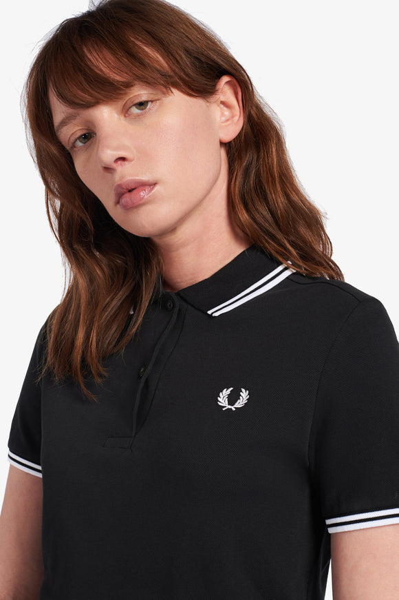 Fred Perry Womens Black / White Polo