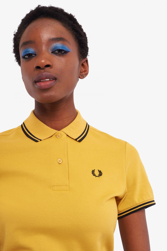 Fred Perry Polo Shirt Sweetcorn Yellow // Black