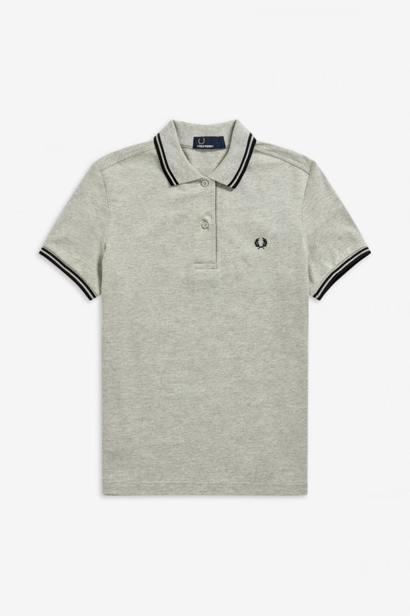 Twin Tipped Fred Perry Polo Shirt - Stone Marl