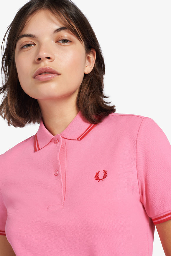 Twin Tipped Fred Perry Polo Shirt Cocktail Pink / Red
