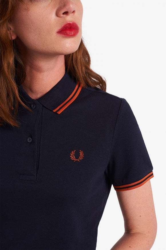 Twin Tipped Fred Perry Polo Shirt Navy // Adobe