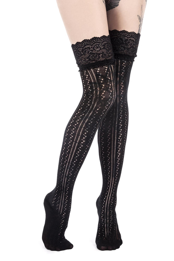Lace Knit Ghalice Long Socks