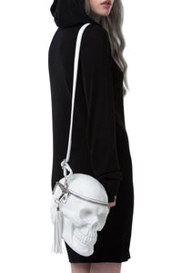 Bone White Grave Digger Skull Bag