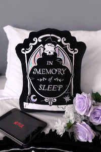 RIP Gravestone Cushion Pillow