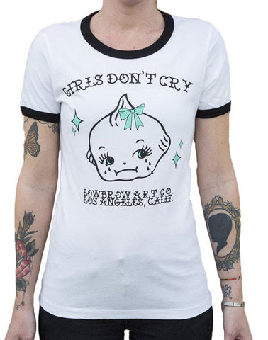Girls Don't Cry Ringer Tee