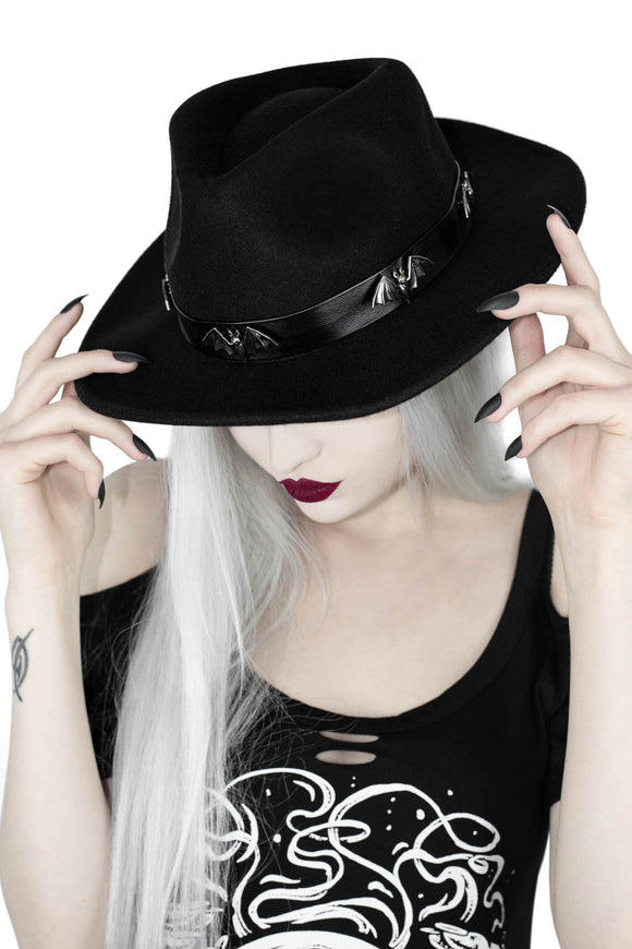 Haunted Bat Fedora Hat