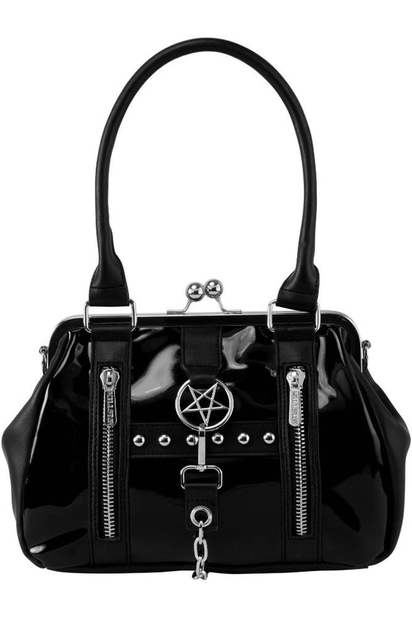 Hear Me Hiss Black Handbag