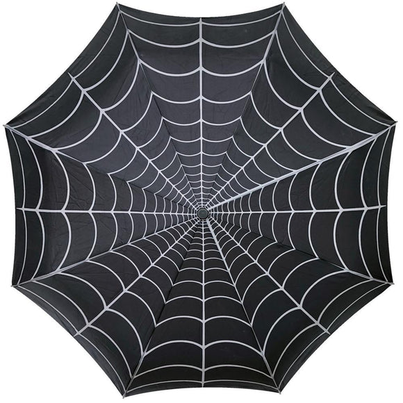 Spiderweb Skull Handle Umbrella