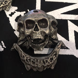 Discharge Skulls Metal Pin