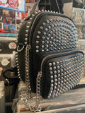 Studded Black Mini Convertible Bag (Back Pack or Shoulder Bag)