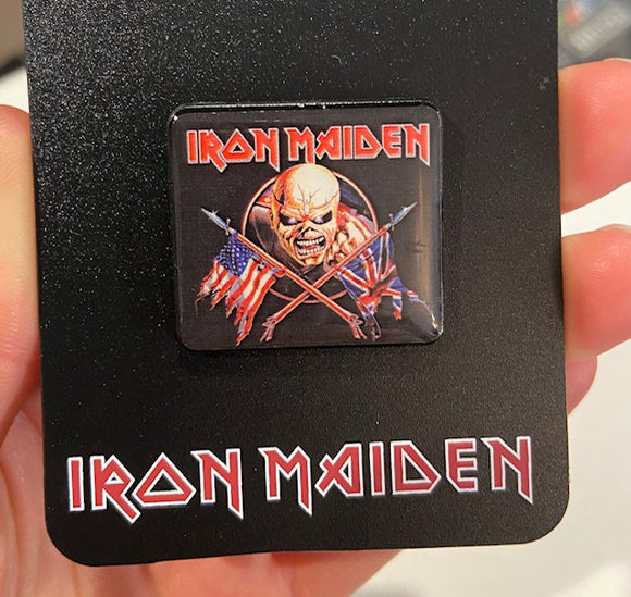 Iron Maiden Invasion Enamel Pin