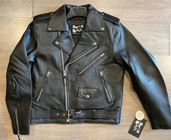 Shock Troops Leather Motorcyle Jacket