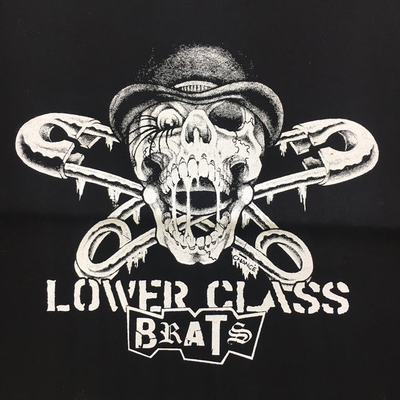 Lower Class Brats Safety Pin Skull Back Patch