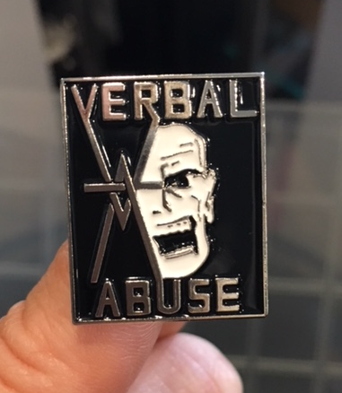 Verbal Abuse Enamel Pin