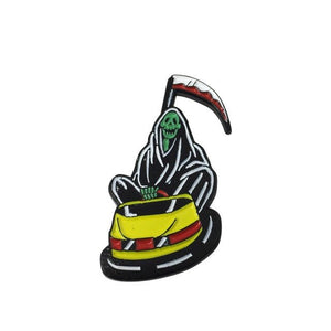 Death Bumper Car Enamel Pin