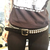 Pyramid Stud 2 Row Belt - DeadRockers