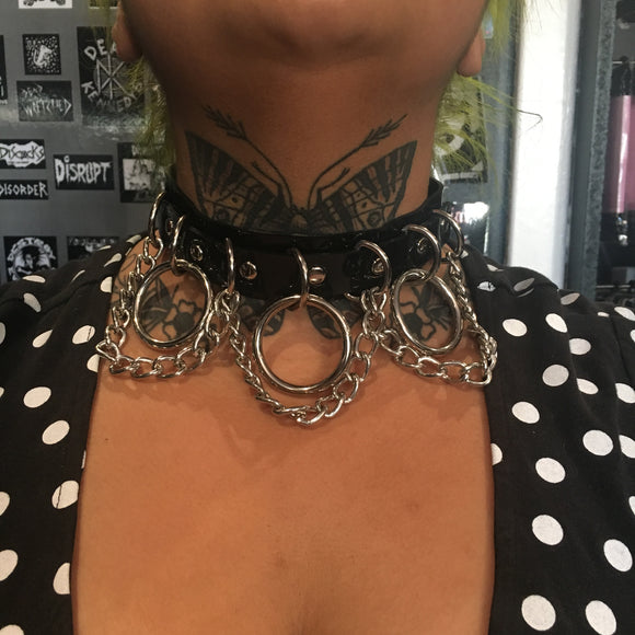 Black Vegan Bondage Chain Choker